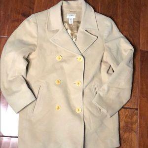 L.L. Bean Tan Wool Pea Coat